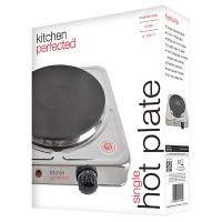 Lloytron KitchenPerfected 1500w Single Hotplate in Brushed Steel