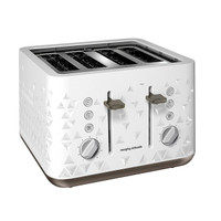 Morphy Richards 248102 Prism Four-Slice Toaster in White