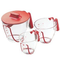 Zyliss Measuring Jug with Lid Set of 3