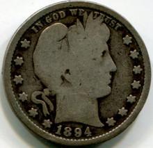 1894 S Barber quarter , G