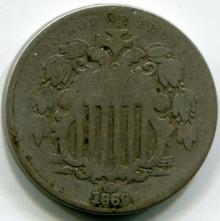 1869 Shield Nickel G