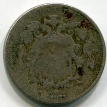 1873 Shield Nickel  AG