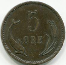 1890 Denmark  5 Ore  Km794.1 VF
