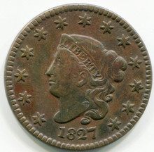1827 Large Cent VF
