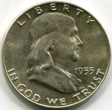 1953 D Franklin Half Dollar MS63