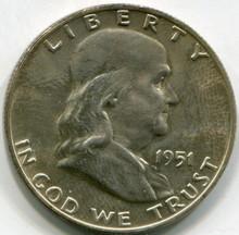 1951 D  Franklin Half Dollar  MS63