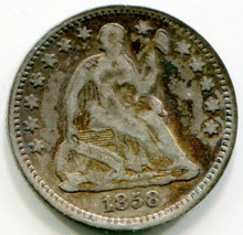 1858 Half Dime F