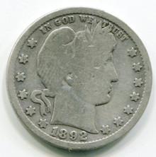 1892 O  Barber Quarter G