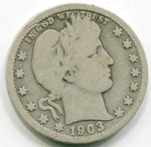 1903 O  Barber Quarter VG
