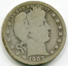1903 S  Barber Quarter G