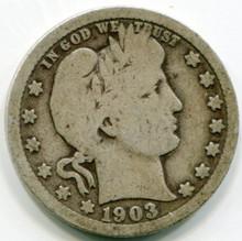1903   Barber Quarter G