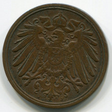 1892-J Germany 1 Pfennig, VF