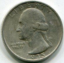 1935 D Washington Quarters  F
