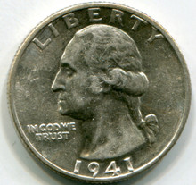1941 D  Washington Quarters  MS60