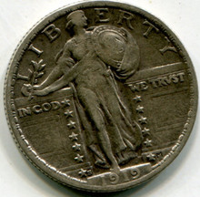 1919 S Standing Liberty Quarter  XF