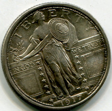 1917 Standing Liberty Quarter   Type I  XF