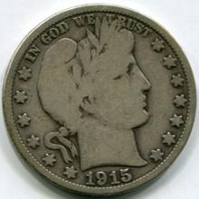 1915 Barber Half Dollar  VG10