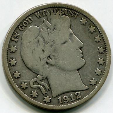 1912 Barber  Half Dollar VG