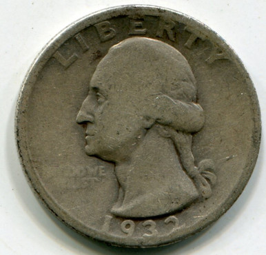 1932 D Washington Quarter  F