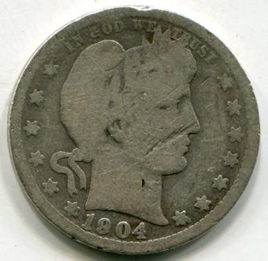 1904 O Barber Quarter G