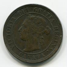 Canada 1900  1 cent, VF
