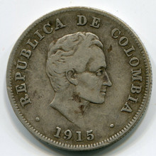 Colombia 1915  50 cents , F