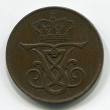 1908 Denmark 5 Ore, VF