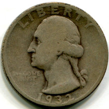 1932 S Washington Quarters ,  VG