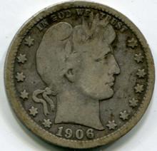 1906 O Barber Quarter, G