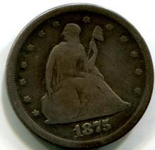 1875 S Twenty Cents, G