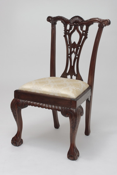 Chippendale Side Chair with Shell Back
