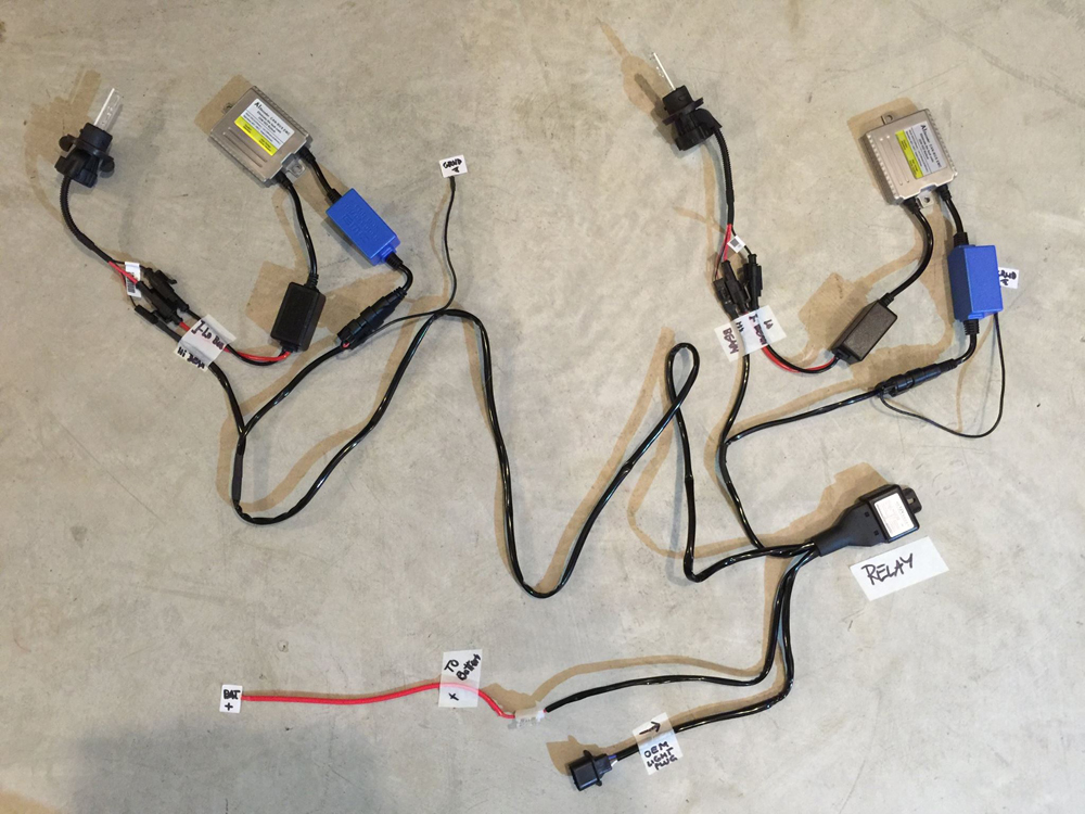 h13 hid with relay setup?t=1446053047 hid vision canada hid installation diagrams h13 wiring harness diagram at bayanpartner.co