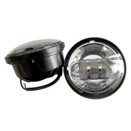"4.5"" 60W Harley Davidson LED Fog Lights Side Lights  - CHROME / 2pcs"
