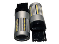 7440 20W 1300lm LED SIGNAL LIGHT w/Lens, CANBUS, SUPER BRIGHT WHITE / 1 SET (2 bulbs)