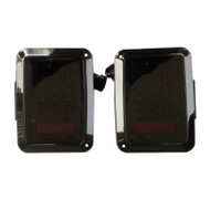JEEP Wrangler JK DOT SAE Compliant LED Tail Light Set with Smoked Lens (G001B) - 2pcs