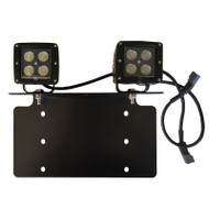 Universal Licence Plate Bracket with 2pcs 12W Flood Beam LED Cubes