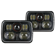 "5"" x 7"" 54W DOT SAE High/Low beam H5054, 6052, H6052, 6053, H6054, H6054ST, H6054XV LED Projector Headlight / 2pcs - NEW!"