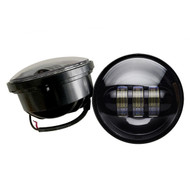 "4.5"" 60W Harley Davidson LED Fog Lights Side Lights  - BLACK / 2pcs"