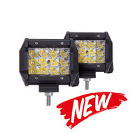 "04"" 72W Tri-Row CREE Spot Beam LED Light Bar Set, 7200lm / 2pc"