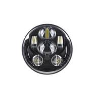 "5.75"" 40W DOT SAE Harley Davidson Softail LED H/L Projector Headlight - BLACK / 1pc"