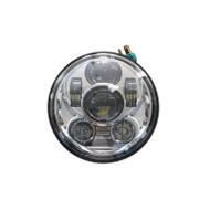 "5.75"" 40W DOT SAE Harley Davidson Softail LED H/L Projector Headlight - CHROME / 1pc"