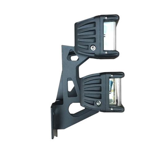 "4"" 60W 2x3 LED pod lights - side view"