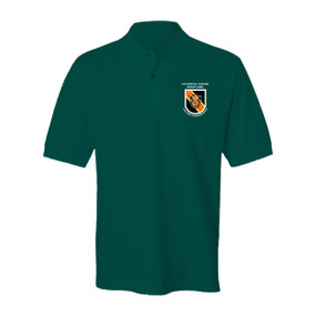 5th Special Forces Group Embroidered Cotton Polo Shirt  Version 2