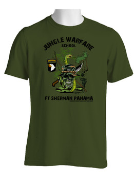 101st Airborne Division Jungle Master Cotton T-Shirt (Jump Wings)