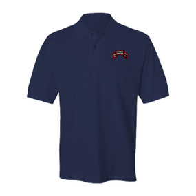 "2-75 Ranger Battalion ""Original Scroll""  Embroidered Cotton Polo Shirt"