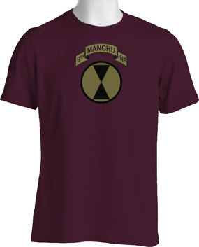 "7th Infantry Division ""Manchus"" (Chest) Subdued Cotton Shirt"