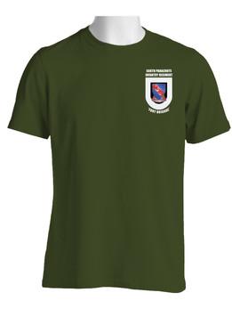 """508th Parachute Infantry Regiment  """"Crest & Flash"""" (Pocket)  Cotton Shirt"""