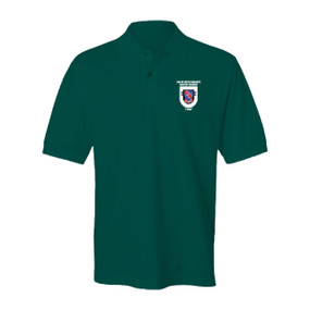 "2-508th Parachute Infantry Regiment  ""Crest & Flash""  Embroidered Cotton Polo Shirt"
