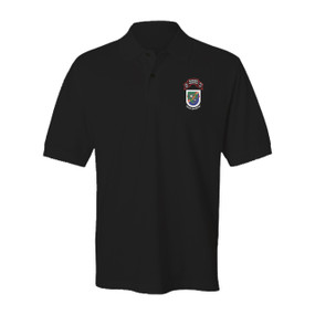 "2-75 Ranger Battalion ""Old Flash & Original Scroll""  Embroidered Cotton Polo Shirt"