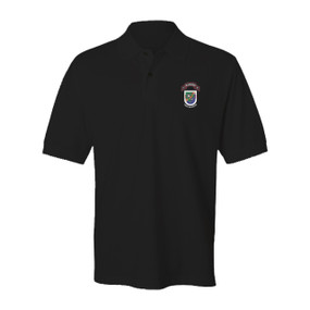 "3-75 Ranger Battalion ""Old Flash "" Embroidered Cotton Polo Shirt"